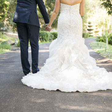 Brittany's Ruffled Trumpet Wedding Gown and Music Festival Themed Wedding