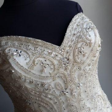 NEW: Plus Size Blingy Mermaid Wedding Dress