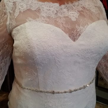 NEW – Long Sleeve Lace Plus Size Wedding Gown