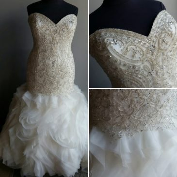 NEW: Super Blingy Mermaid Wedding Dress with Ruffles