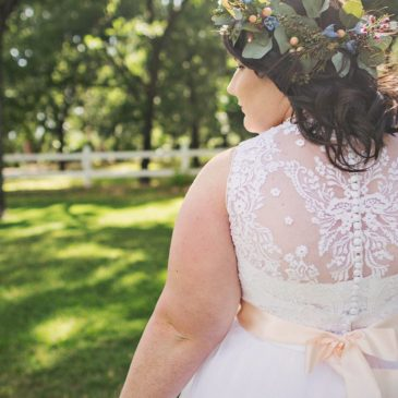 Sarah's Vintage Inspired Lace and Tulle Aline Wedding Dress