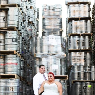 Cool Venue Alert: Tori's Reception at a Brewery Tasting Room