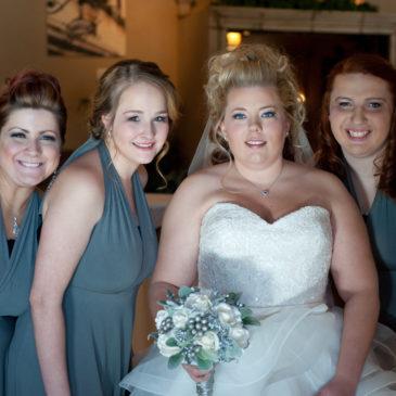 Alisha's Custom Ruffle Ballgown Wedding Dress