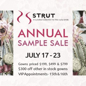 Plus Size Wedding Dress Sample Sale – July 2017