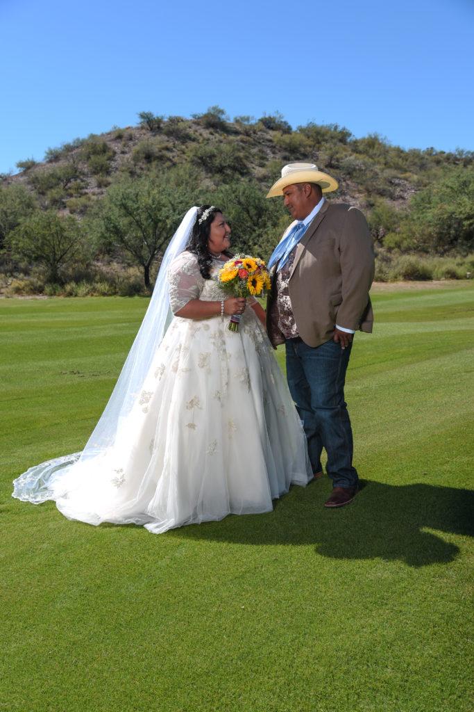 Tara\'s Custom Gold Wedding Dress - Strut Bridal Salon
