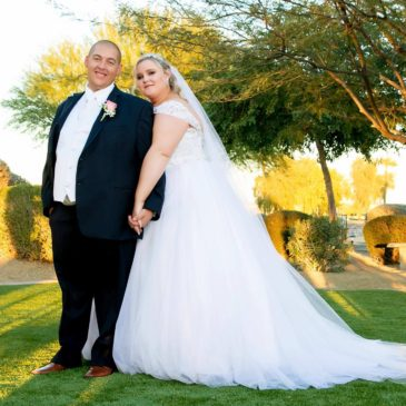 Tori's Sparkly White Ballgown Wedding Dress