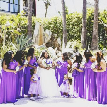 Trenesha and Cameron's Pretty Purple Wedding