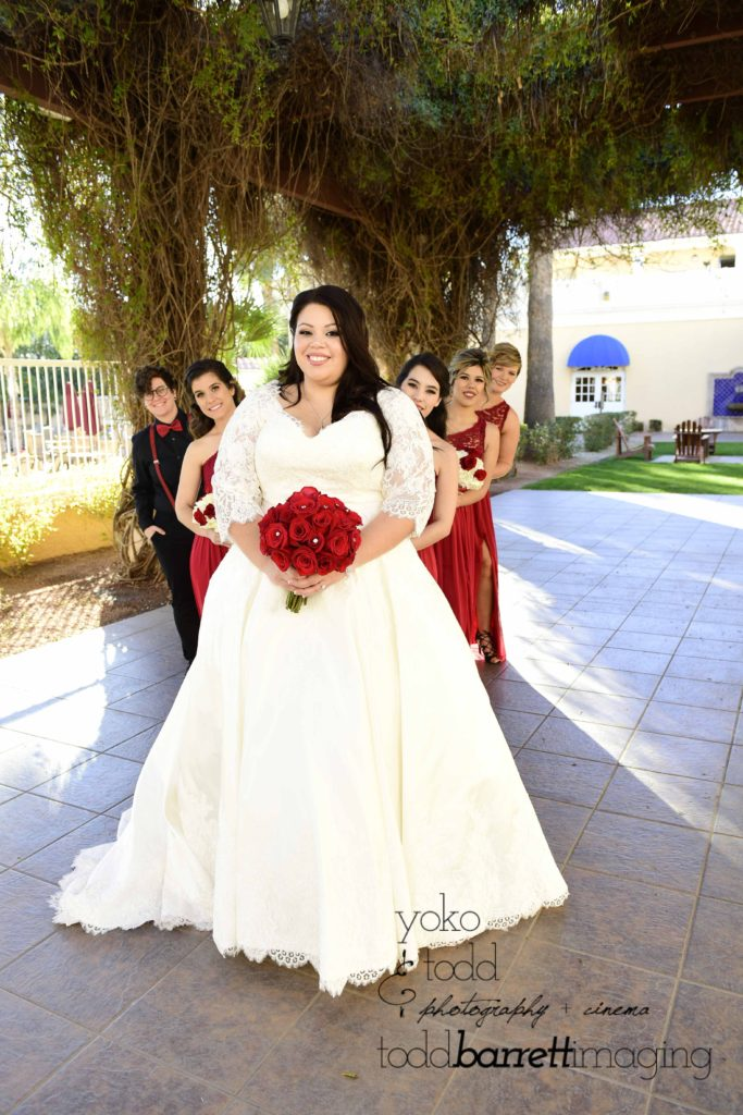 Candice Red Rose Bouquet Plus Size Wedding Gown Strut Bridal Salon