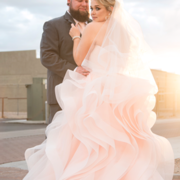 Stephanie's Pink Ruffled Ballgown