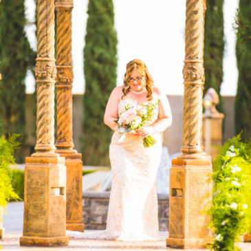 Carrie's Stunning Fully Beaded Sheath Wedding Gown