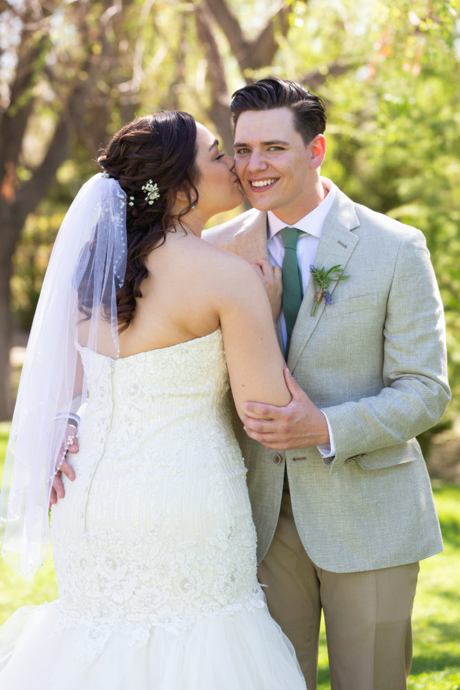 Jessi's Glamourous Fit-and-Flare Wedding Gown
