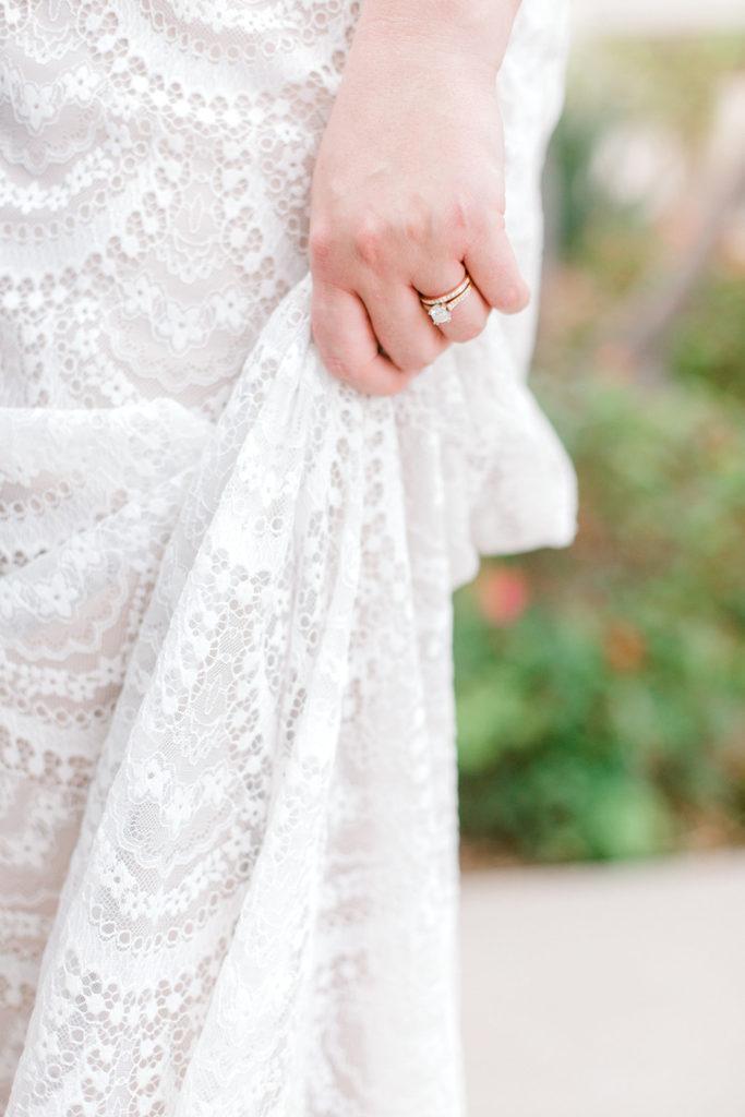 plus size boho lace wedding dress with sleeves