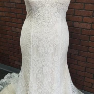 4 New Plus Size VNeck Wedding Dresses