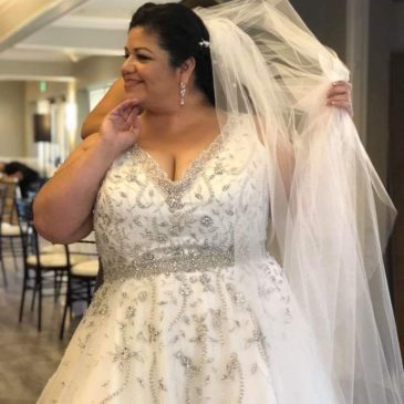 Eva's Glam Ballgown Wedding Dress