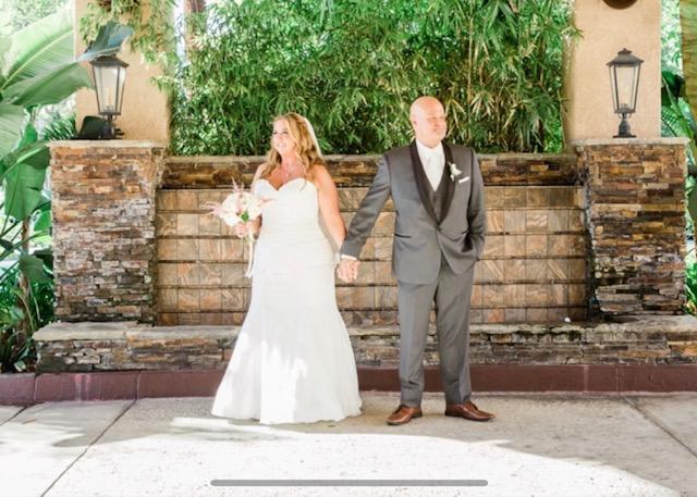 perfect plus size mermaid wedding dress newlyweds