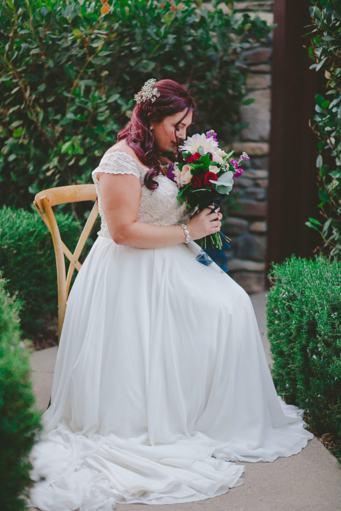 plus size chiffon wedding dress with cap sleeves Temecula, CA