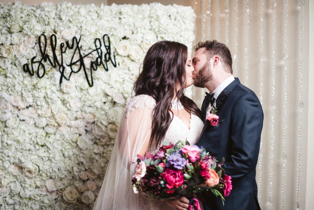 Newlyweds first kiss Las Vegas, NV.