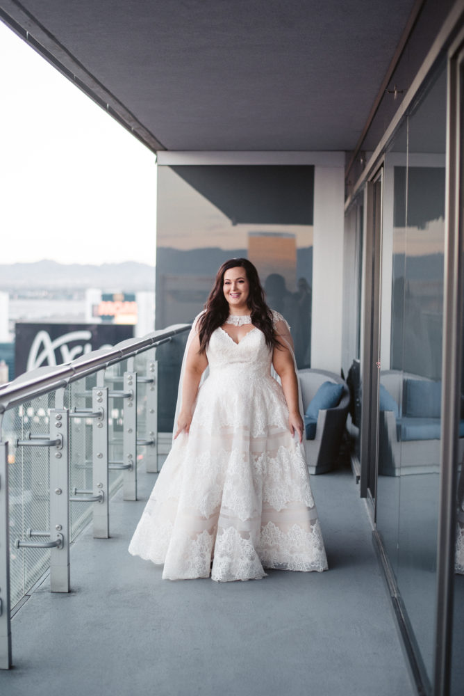 Ashley's Glamorous Wedding Gown with Cape