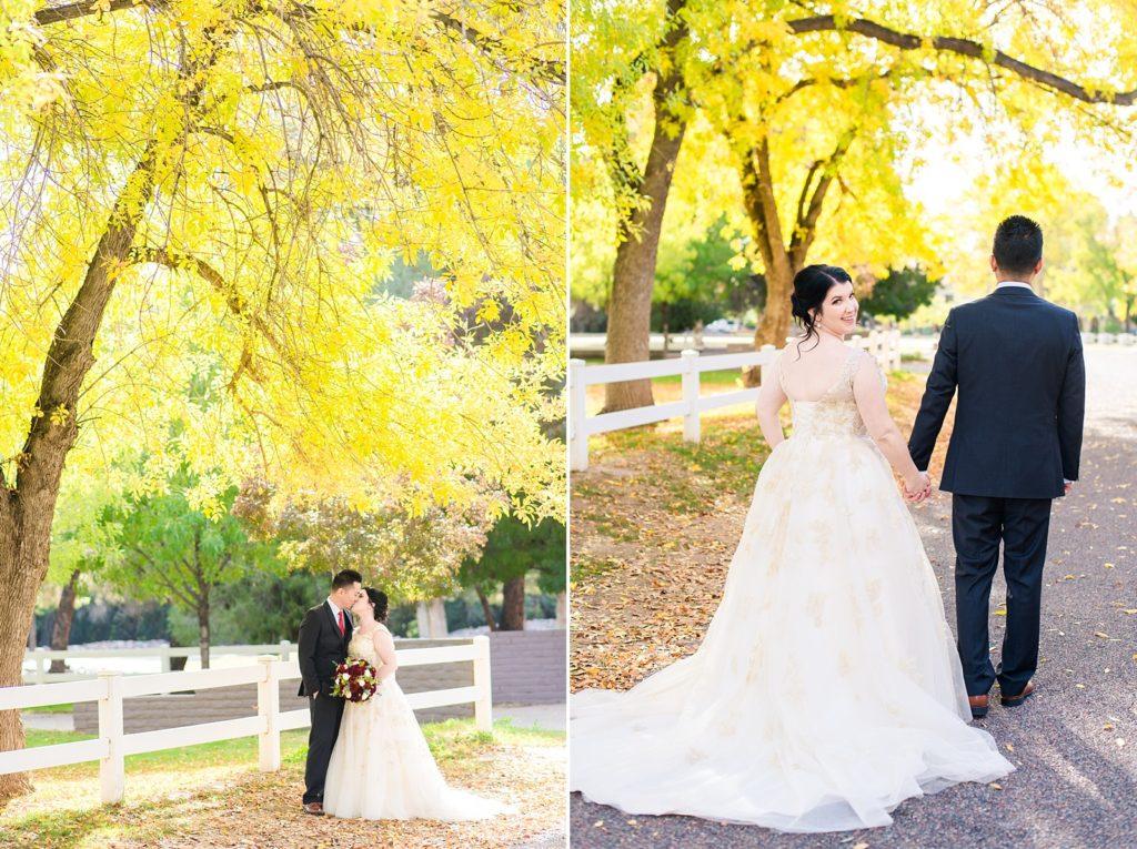Outdoor wedding curvy bride