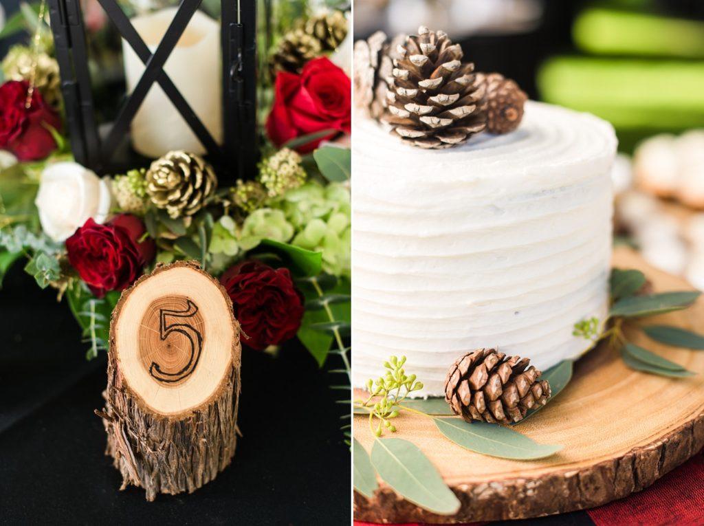 Outdoor woodsy wedding details