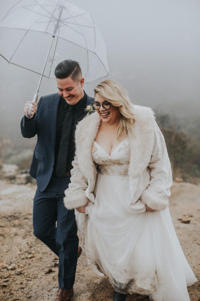 Autumn's Rainy California Vineyard Wedding