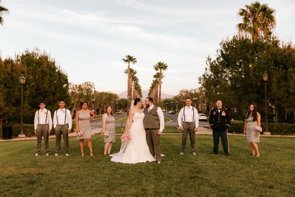 outdoor wedding photos wedding party plus size bride Tempe, AZ