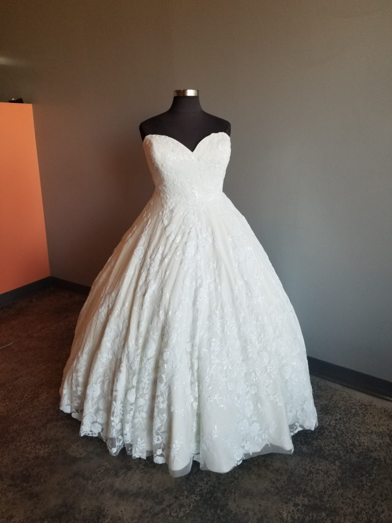 plus size designer wedding dress Los Angeles