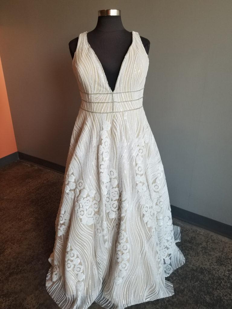 Plus size sequin aline wedding dress