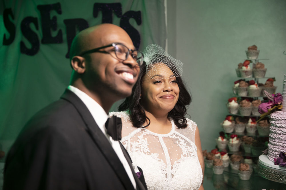 Jasmine's Sexy Beaded Fitted Wedding Gown
