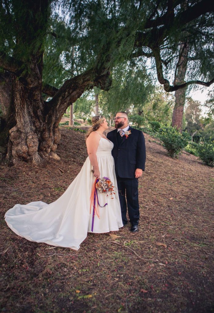 plus size bride outdoor wedding Orange, CA