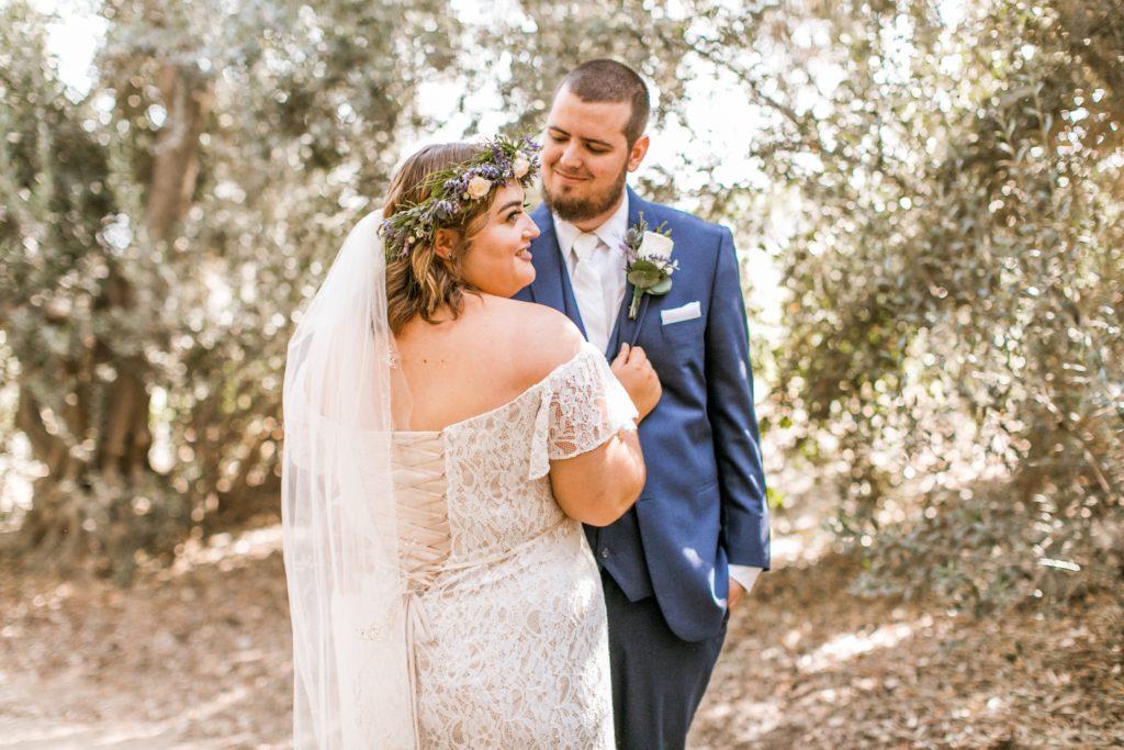 lace up corset back informal wedding dress