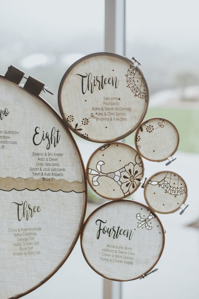 wedding table assignments custom