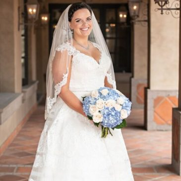 Teressa's Show-Stopping A-Line Wedding Dress