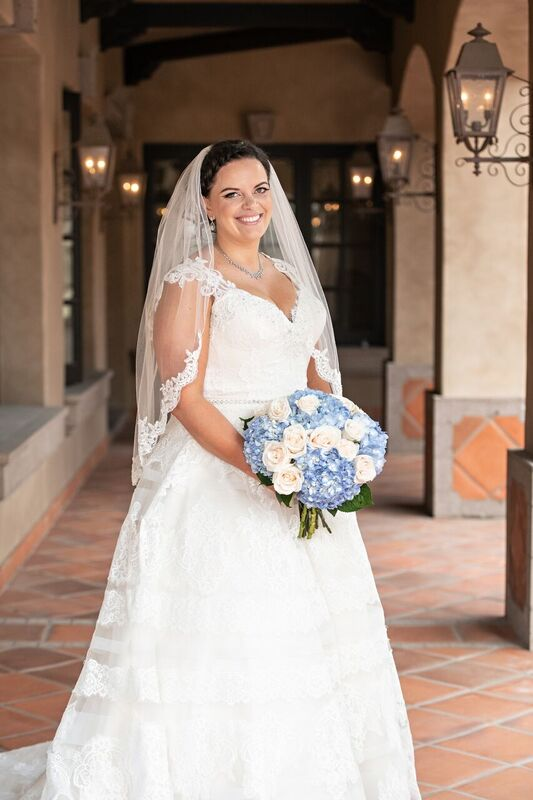 curvy bride in show-stopping plus size a-line wedding dress