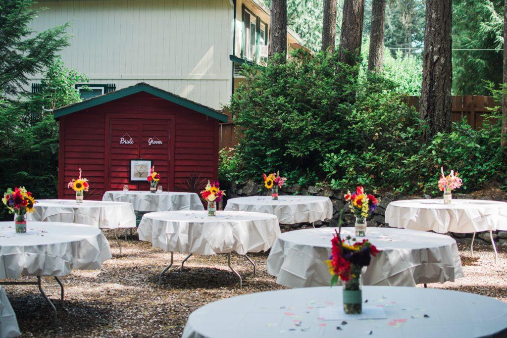 lakeside outdoor wedding