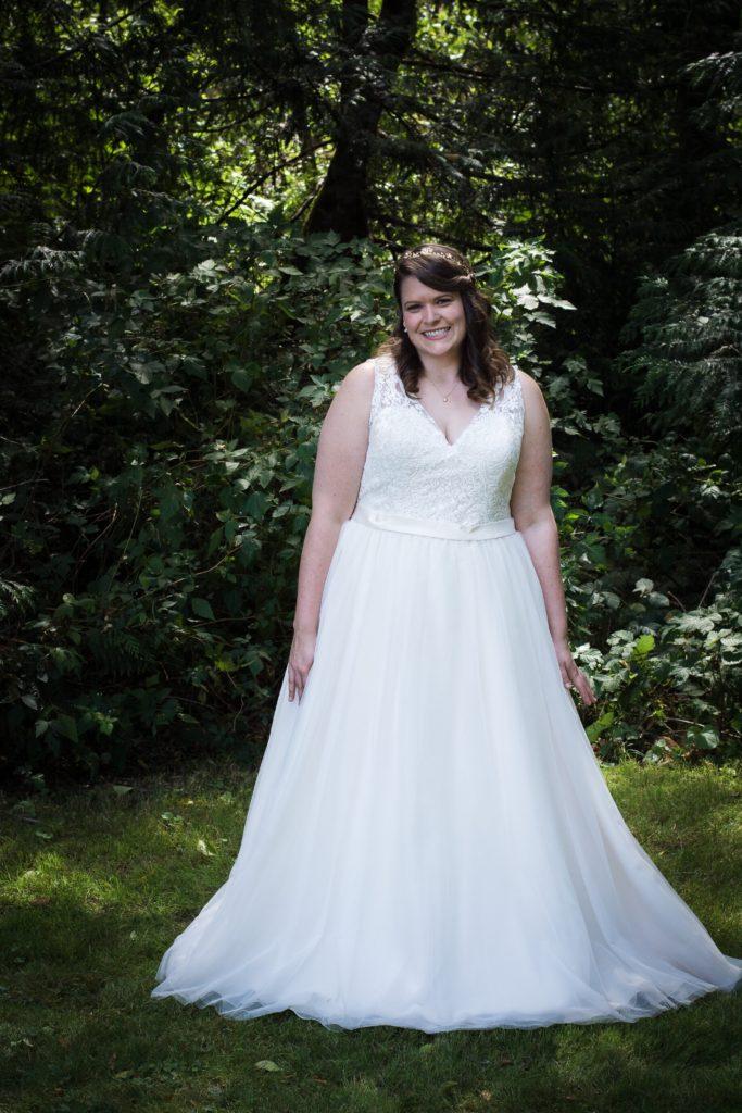 plus size aline wedding dress