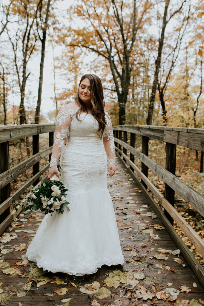 long sleeve lace mermaid wedding dress