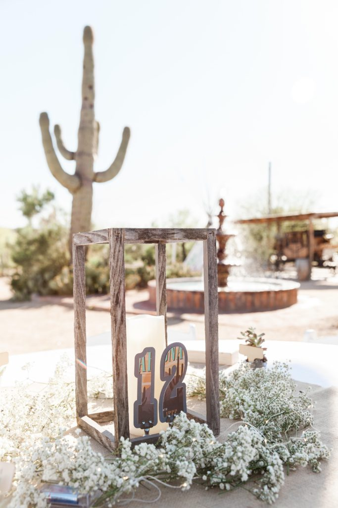 rustic wedding table setting