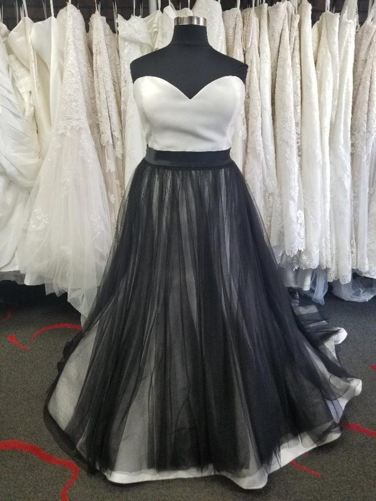 black tulle overskirt