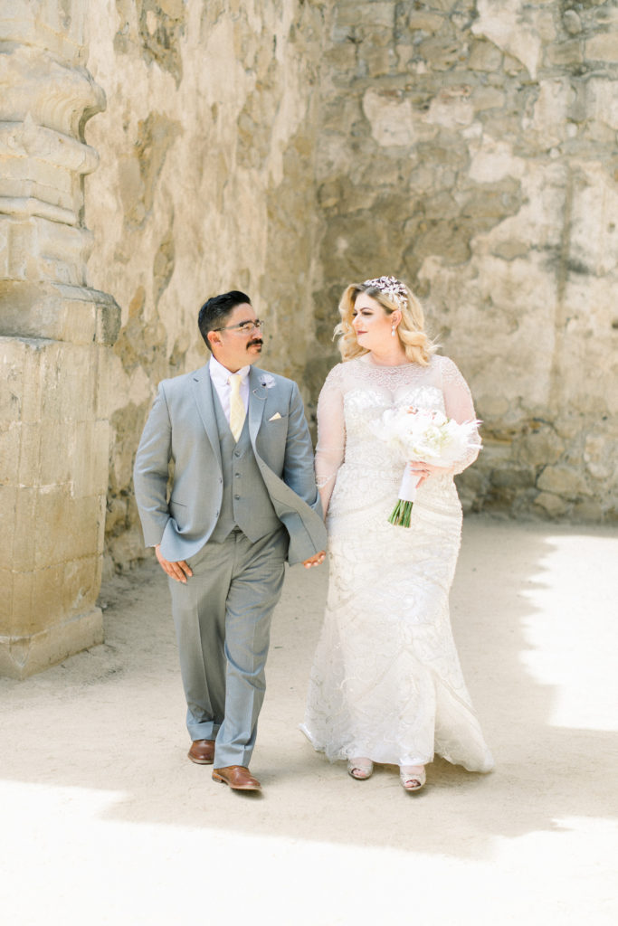 plus size vintage inspired sheath wedding dress los angeles california