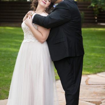Larissa's Cap Sleeve Tulle Aline Wedding Dress