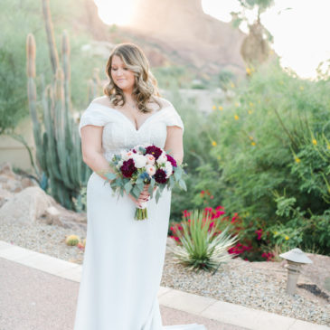 Bridget's Crepe Sheath at Sanctuary at Camelback Mountain