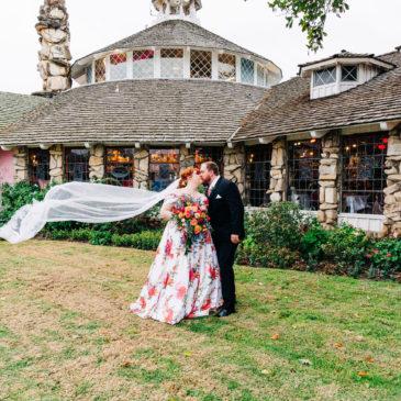 Riley's Unique Floral Wedding Dress