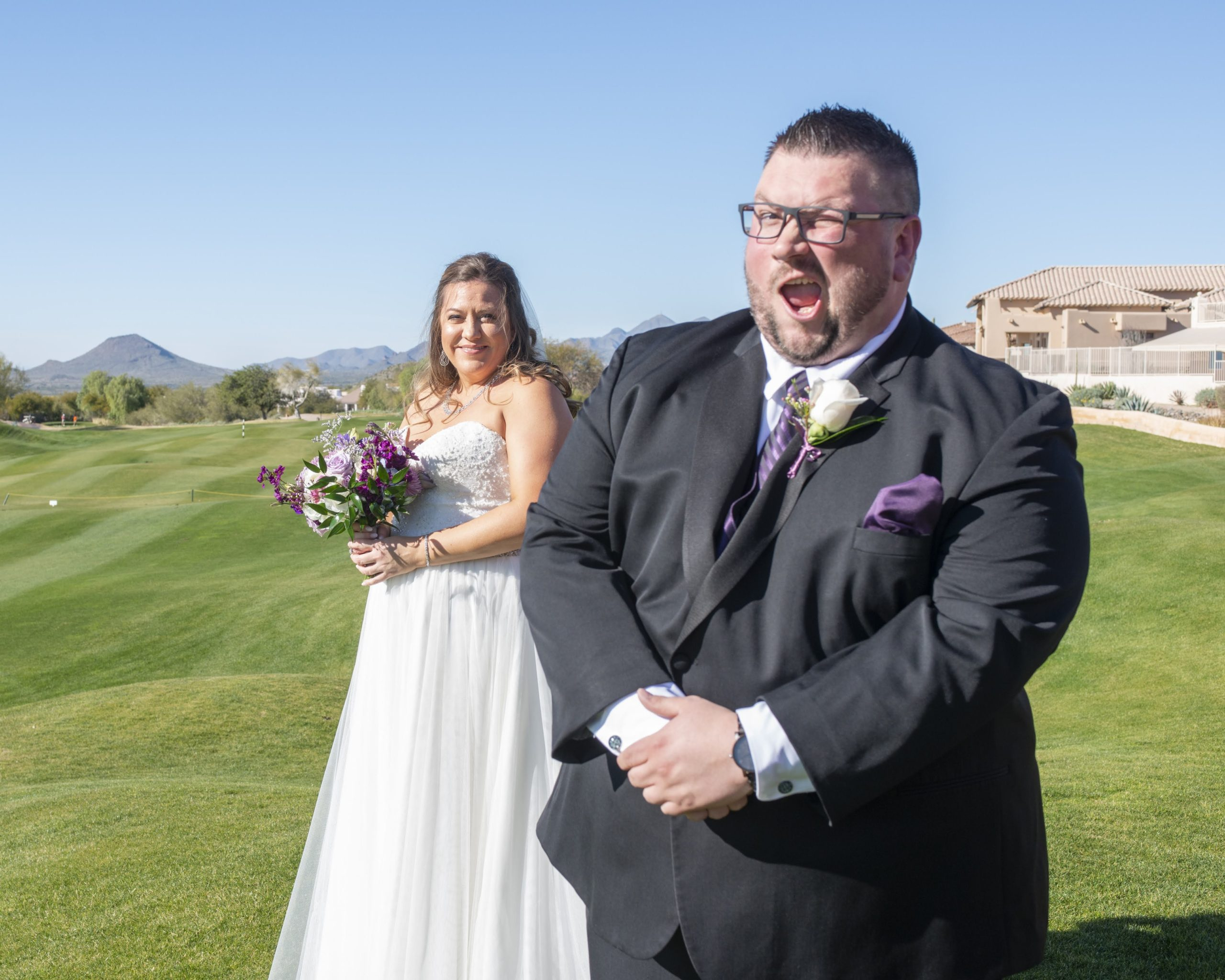 Sarah's Strapless Tulle Aline Wedding Dress