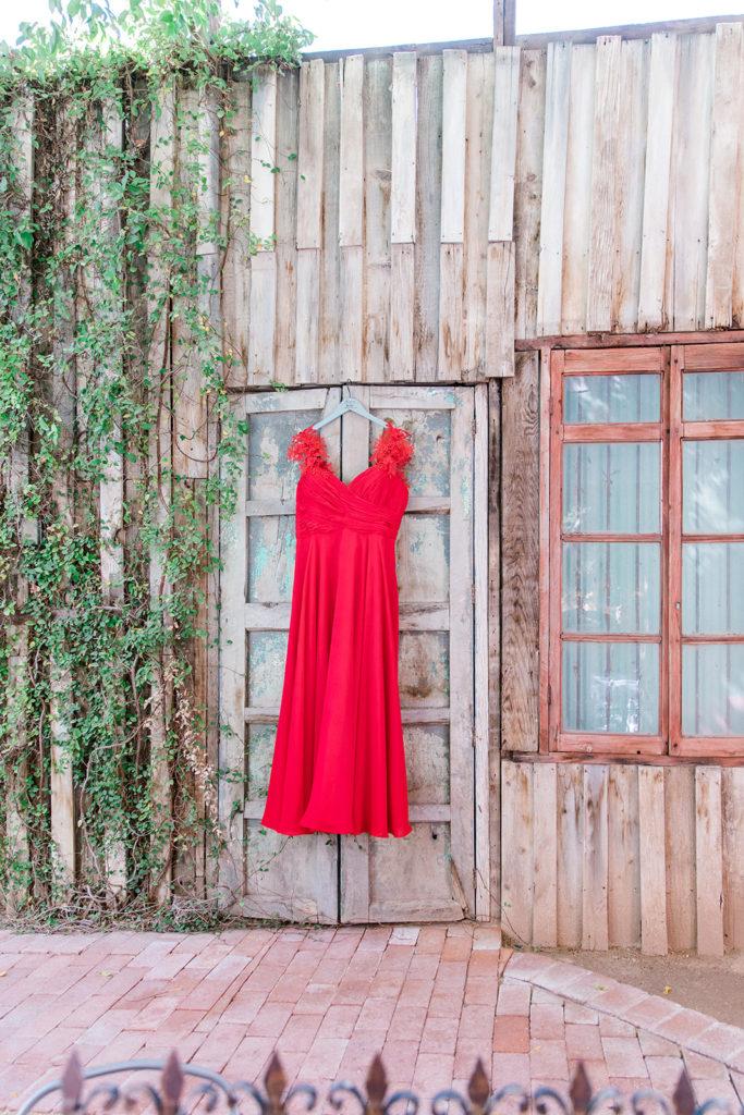 custom red wedding dress at boojum tree phoenix