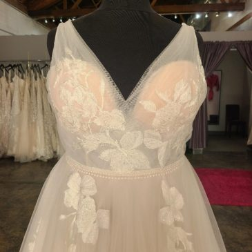 NEW – Romantic Floral Lace Aline Wedding Dress