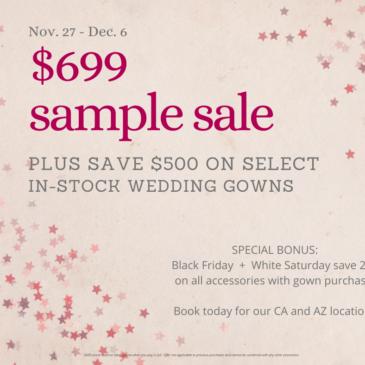 Black Friday Plus Size Wedding Dress Sample Sale
